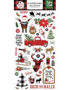Pegatinas Chipboard Lumberjack Christmas