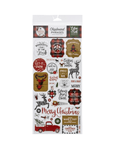 Pegatinas Chipboard Lumberjack Christmas de Echo Park