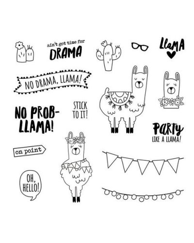 Sello No prob-Llama stamps de Carpe Diem