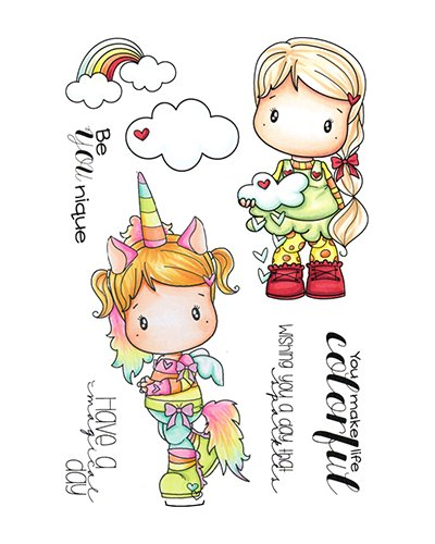 C.C. Designs sello Unicorn & Rainbow