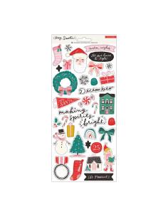 Hoja de pegatinas Hey Santa de Crate Paper
