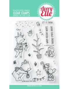 sello Holiday Circle Tags de Avery Elle