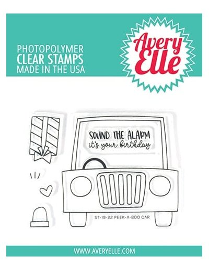 sello Peek-a-boo Car de Avery Elle
