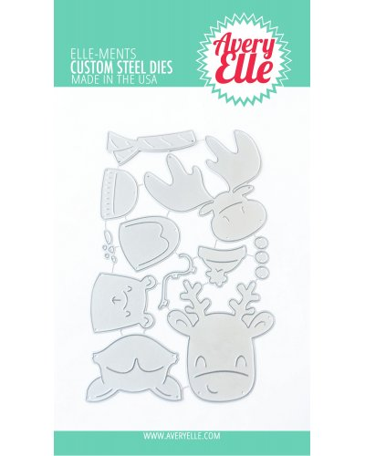 Troquel peek a boo Holiday Tag Toppers de Avery Elle