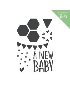 Stencil New Baby de ModaScrap
