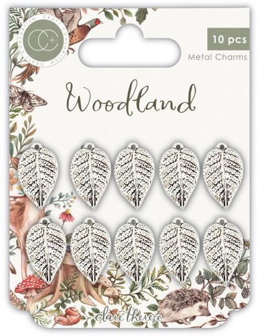 Adornos metálicos hojas Woodland de CC