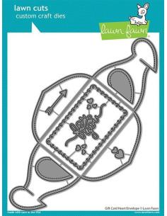 Troquel Gift Card Heart Envelope de Lawn Fawn