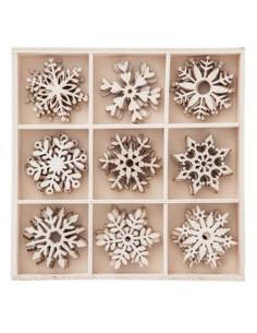 Set maderitas copos nieve dp craft