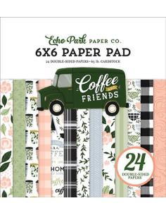 """Pad 6""""x6"""" Coffe & Friends de Echo Park"""