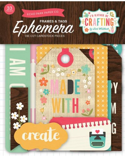 Troquelados I´d rather be crafting de Echo Park