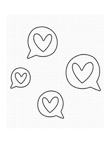 Troquel Love Speech Bubbles