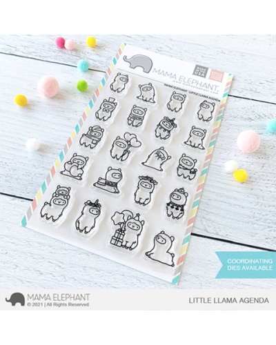 Sello Little llama agenda de Mama Elephant
