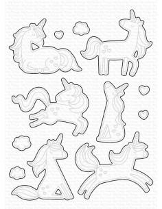 Troquel Friendly Unicorns de MFT