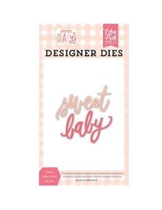 Troquel Sweet baby word Welcome Baby Girl de Echo Park