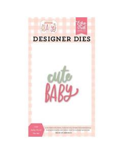 Troquel Cute baby word Welcome Baby Girl de Echo Park