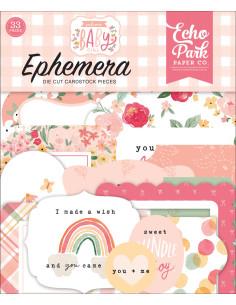 Troquelados Ephemera Welcome Baby Girl de Echo Park