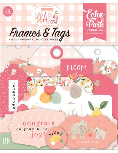 Troquelados Frames & tags Welcome Baby Girl de Echo Park