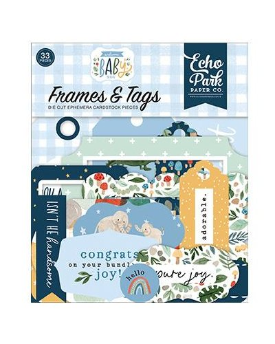Troquelados Frames & Tags Welcome Baby Boy de Echo Park