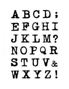 Sello Remintgon uppercase Alphabet de CB