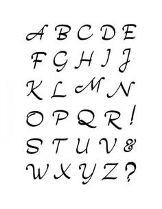 Sello Moonlight Uppercase Alphabet de CB