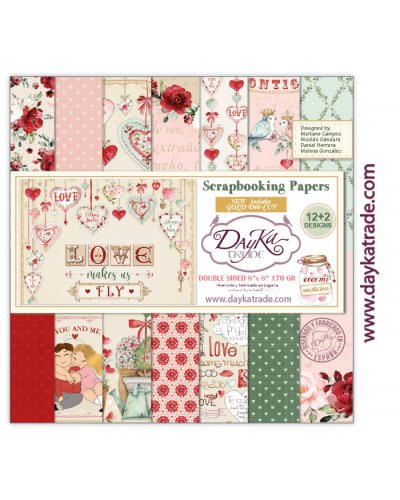 Kit 20x20 Love makes us fly de Dayka