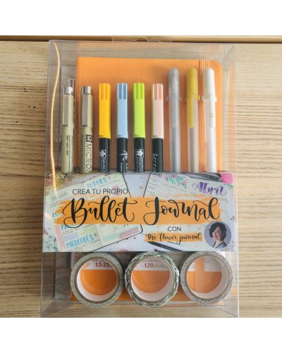 Kit bullet journal naranja