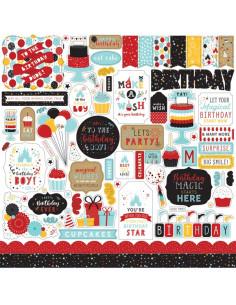 Hoja pegatina Magical birthday boy de Echo Park