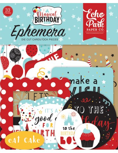 Troquelados Ephemera Magical birthday boy de Echo Park