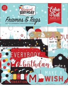 Troquelados Frames&Tags Magical birthday boy de Echo Park