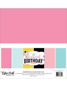 kit sólidos Magical Birthday girl de Echo Park