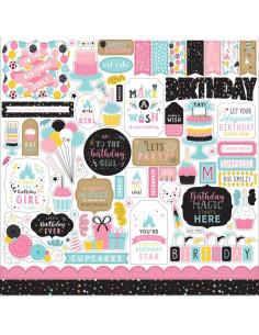 Hoja pegatinasMagical Birthday girl de Echo Park