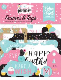 Troquelados Frames&Tags Magical Birthday girl de Echo Park