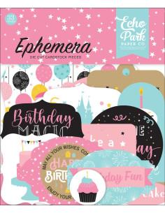 Troquelados Ephemera Magical Birthday girl de Echo Park