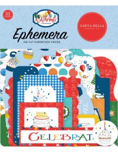 Troquelados Ephemera Let´s Celebrate de Cartabella