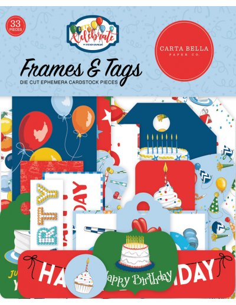 Troquelados Frames6Tags Let´s Celebrate de Cartabella