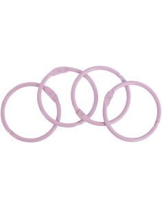 Set 4 anillas 35mm rosa claro de Artis decor
