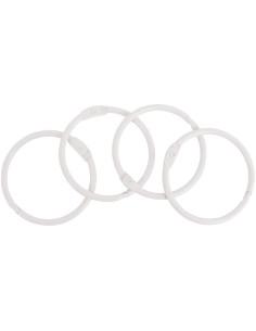 Set 4 anillas 35mm blancas de Artis decor