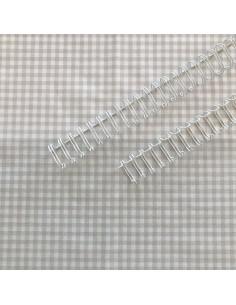 """Espiral encuadernación blanca 0,75"""""""