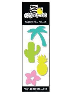 Adornos metacrilato Gigi tropical