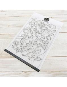Sello Flowers Pattern de ModaScrap