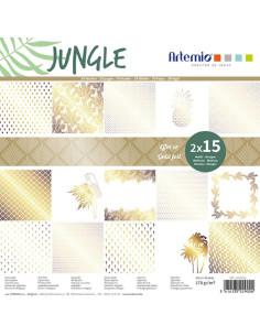 Bloc 12x12 Jungle con foil dorado de Artemio