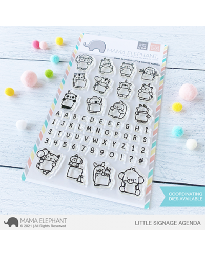 Sello Little Signage Agenda Mama Elephant