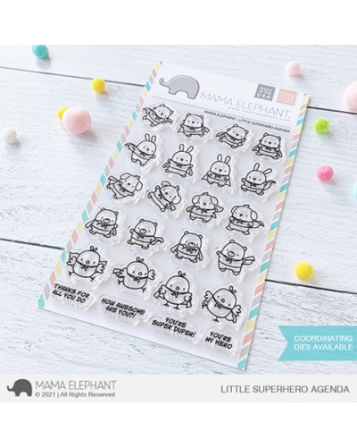 Sello Little Superhero Agenda de Mama Elephant