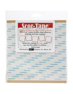 "Hojas adhesivas 6"" de Scor-Tape"