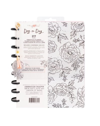 Planner floral negro/blanco de Day to Day