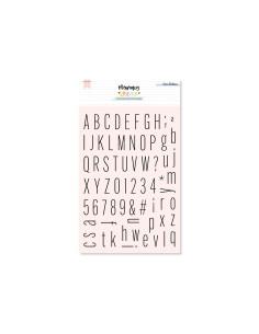 Sello Alfabeto THIN S de Lora Bailora