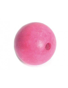 Cuentas madera bola rosada de Innspiro
