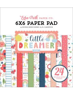 Hoja pegatina Little Dreamer Girl de Echo Park