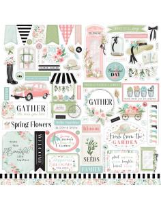 Hoja pegatinas Flower Garden de Carta Bella