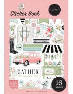 Libro de pegatinas Flower Garden de Carta Bella
